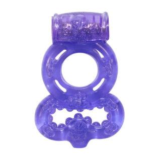 Эрекционное виброкольцо Lola Games Rings Treadle, фиолетовый