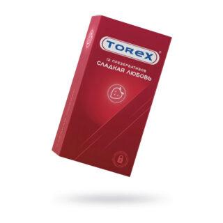 Презервативы сладкая любовь Torex №12, клубника