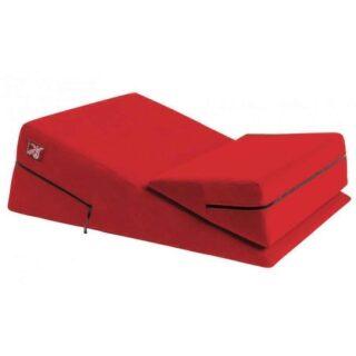 Liberator Wedge/Ramp Combo Подушка для любви комбо большая+малая, красная микрофибра