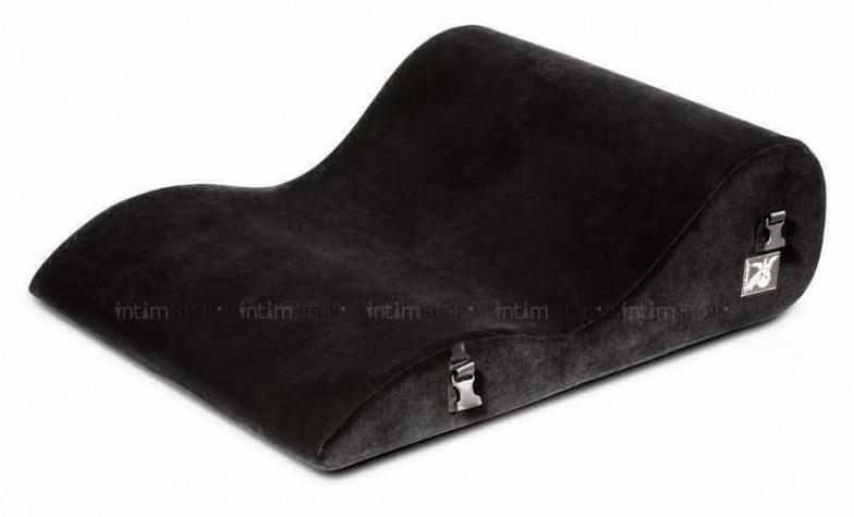 Подушка для любви большая Liberator BL Retail Hipster с креплениями черная микрофибра