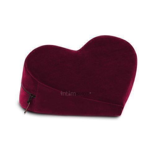Liberator Retail Heart Wedge Подушка для любви малая в виде сердца,  рубиновый вельвет