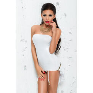 Платье с пажами для чулок Me Seduce Bond Me Chantal, белый, L/XL