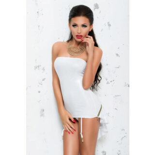 Платье с пажами для чулок Me Seduce Bond Me Chantal, белый, S/M