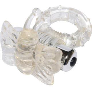 Виброкольцо прозрачный 7 Speed Butterfly Cock Ring Aphrodisia