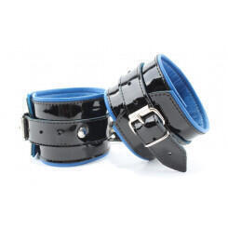 Наручники кожаные черно-синие 51032ars