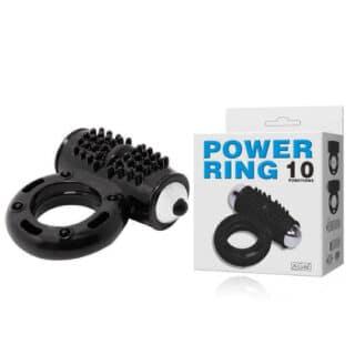 Эрекционное кольцо с вибрацией POWER RING 10 Baile