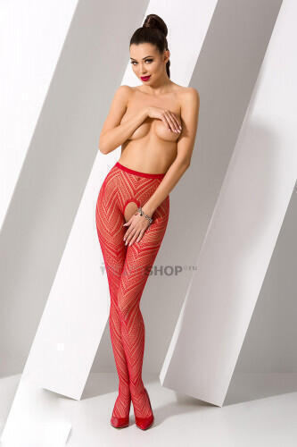 Колготки Passion Erotic Line S 010 Red Красный One size