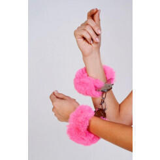 Шикарные наручники с пушистым розовым мехом Be Mine, OC