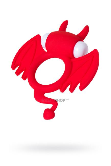 Эрекционное кольцо на пенис Jos Sweet Devil, силикон, красный, 8,5 см