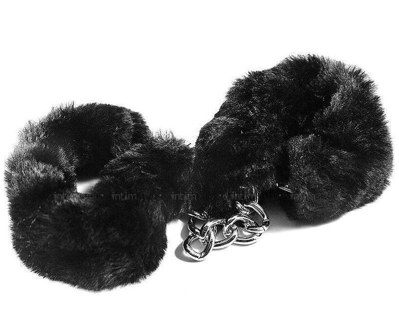 HAFTB001 - Наручники с искусственным мехом, цвет Черный