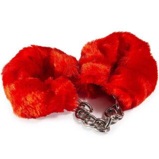 HAFTR001 - Наручники с искусственным мехом, цвет Красный