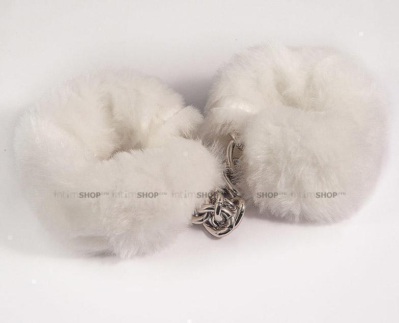 HAFTW001 - Наручники с искусственным мехом, цвет Белый