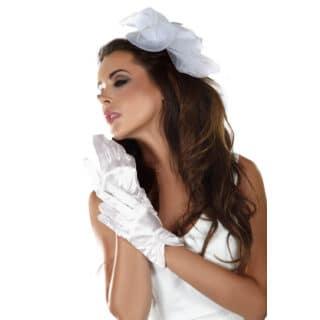 Перчатки LivCo Corsetti Fashion LC gloves model 2, Белый, One size