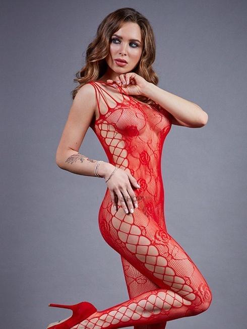 Боди-комбинезон красный с боковой полосой Impulse, S-L