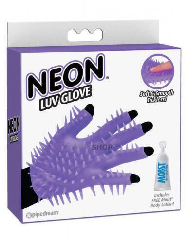 Перчатка для чувственного массажа Pipedream Neon Luv Glove
