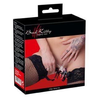 Подвязки на бедро с зажимами для гениталий Bad Kitty Suspender Straps with Clamps