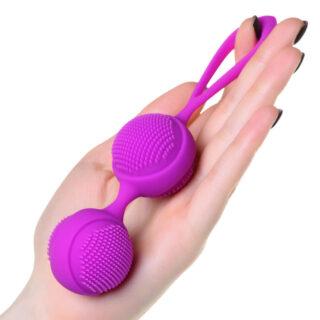 Вагинальные шарики с ресничками JOS NUBY, фиолетовые