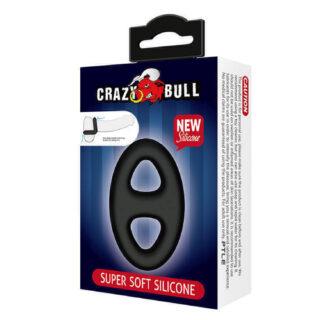 Овальное двойное эрекционное кольцо из мягкого силикона Baile CrazyBull Baile