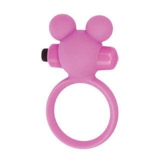 Эрекционное виброкольцо Toy Joy Teddy, розовое