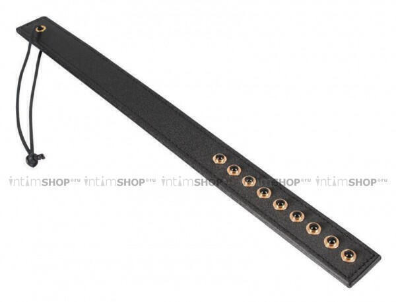 Прямоугольная вытянутая шлепалка с декорированной поверхностью - заклепки ORION Paddle by Bad Kitty 37 cm