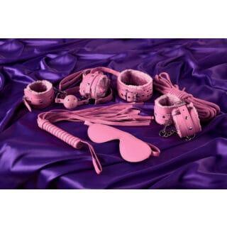 Набор для ролевых игр Eromantica: маска, наручники, оковы, ошейник, флоггер, кляп