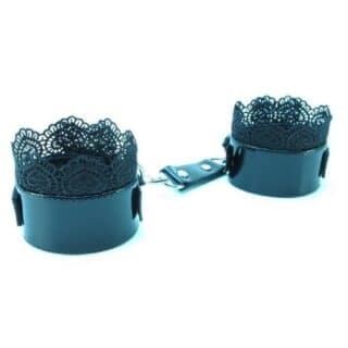 Изысканные наручники с чёрным кружевом BDSM Light
