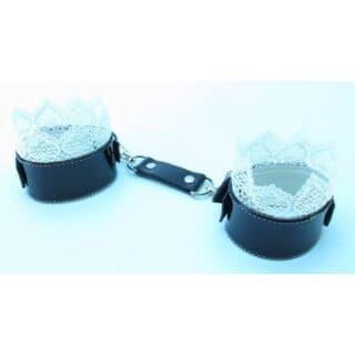 Изысканные наручники с белым кружевом BDSM Light
