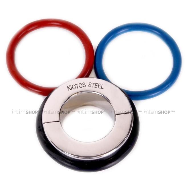 Металлическая утяжка на мошонку с 3-мя кольцами Ball Stretcher O-Products