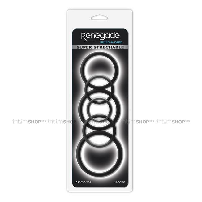 Набор эрекционных колец  Renegade - Build-A-Cage Rings - Black 6 шт, черный