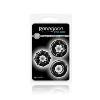 Набор эрекционных колец Renegade - Dyno Rings - Black 3 шт, черный