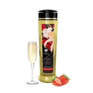 Масло массажное для тела Shunga Романтика Шампанское и клубника, 240 мл