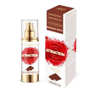 Разогревающее массажное масло с феромонами Mai Attraction 30 мл, шоколад