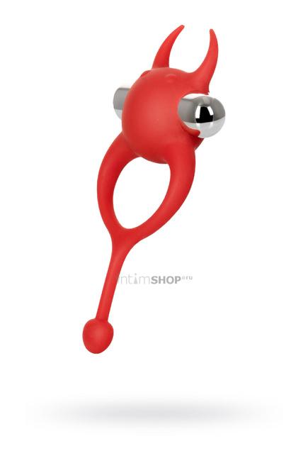 Виброкольцо с хвостиком Jos Nick, силикон, красный, 13,5 см