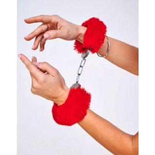 Шикарные наручники с пушистым красным мехом Be Mine, OC