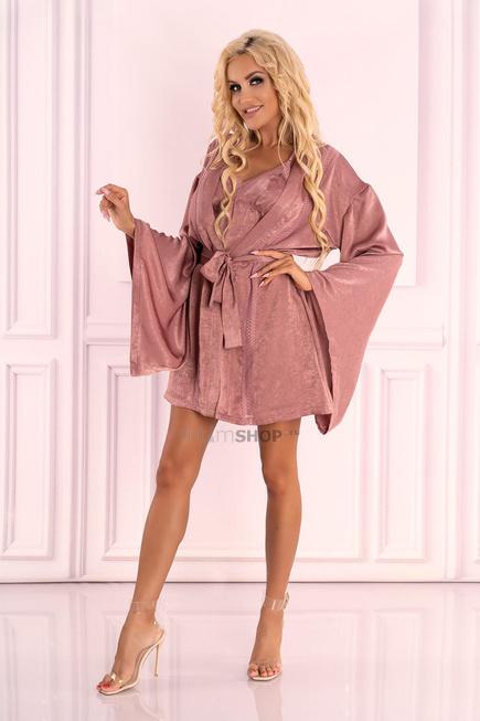 Пеньюары LivCo Corsetti Fashion LC 90594 Faomi szlafrok, Розовый, S/M