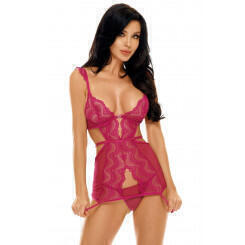 Сорочка Beauty Night Peyton chemise Purple, Фуксия, S/M