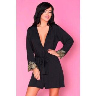 Пеньюары LivCo Corsetti Fashion LC 90349-1 Marita szlafrok, Чёрный, L/XL