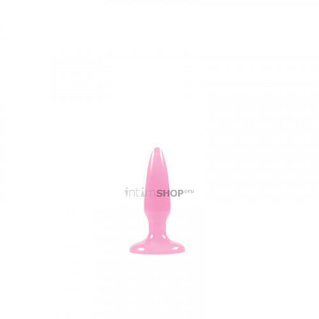 Анальная пробка флуоресцентная NS Novelties Firefly Pleasure Plug, розовая