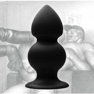 Анальная Пробка с двумя шариками Weighted Silicon Anal Plug Tom of Finland черный