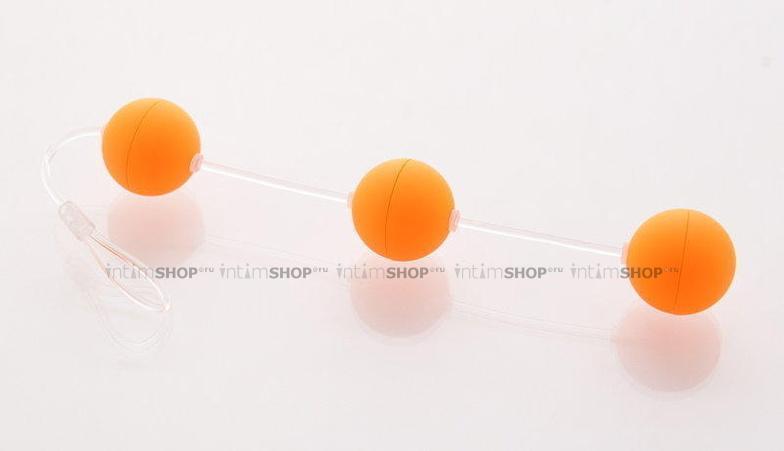 Анальные шарики Sexus Funny Five, оранжевый