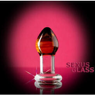 Анальный массажер из стекла Sexus Glass прозрачный