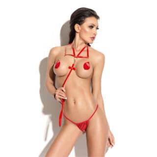 Поводок Me Seduce Queen of hearts Bonita, красный, OS