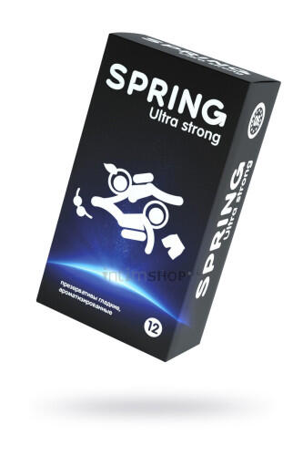 Презервативы Spring  Ultra Strong, классические, латекс, 17,5 см, 12 шт