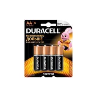 Батарейки пальчиковые Duracell АА/LR6 4 шт