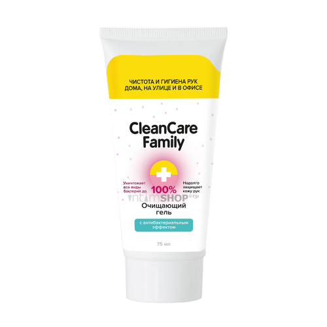 Очищающий гель CleanCare Family с антибактериальным эффектом 75 мл.