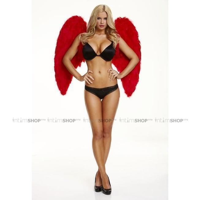 Большие Крылья из Натуральных Перьев Electric Lingerie Red love красные