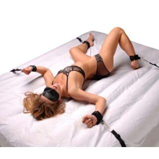 Бондаж для фиксации на кровати или двери XR Brabds Frisky, чёрный