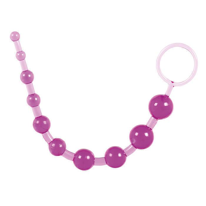 Бусы анальные Toy Joy Thai Toy Beads, фиолетовые