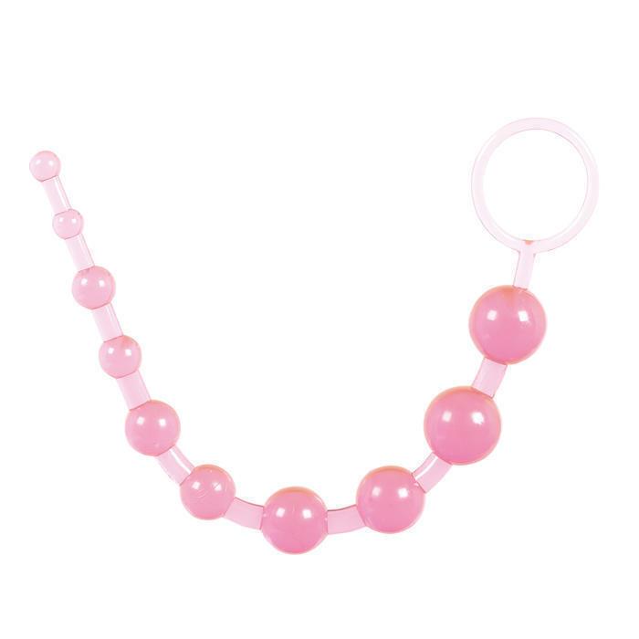Анальные бусы Toy Joy Thai Toy Beads, розовые