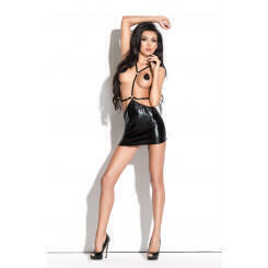 Платье Me Seduce Queen of hearts Roxana, wetlook, черное, L/XL